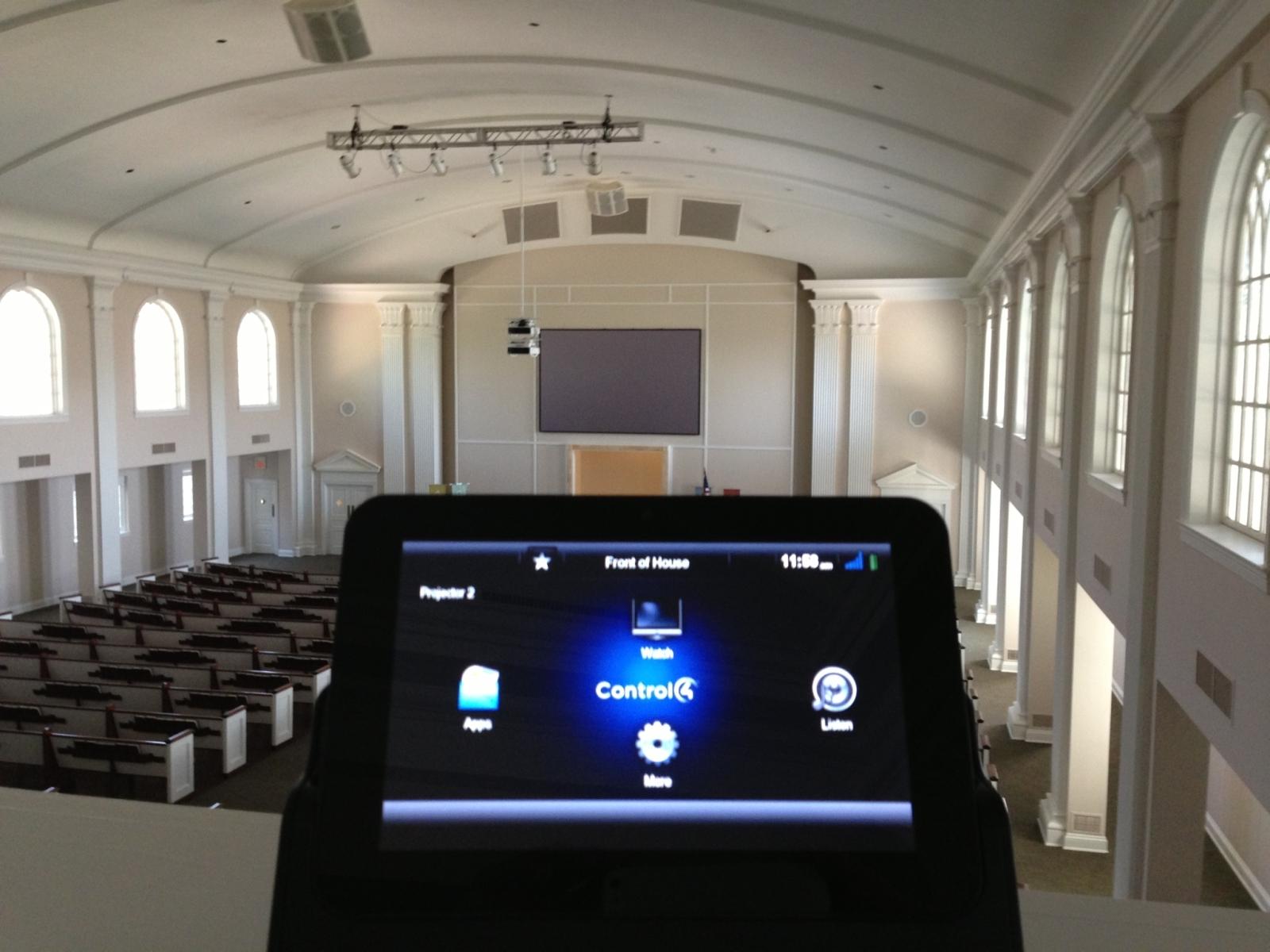 audio video design church round rock a v system. Black Bedroom Furniture Sets. Home Design Ideas